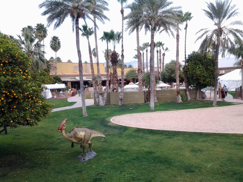 Dinosaurs at the Hotel Tucson City Centre for the Arizona Mineral and Fossil Show
