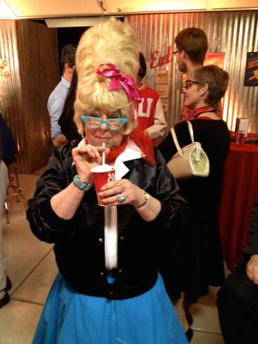Dona tries out a milkshake