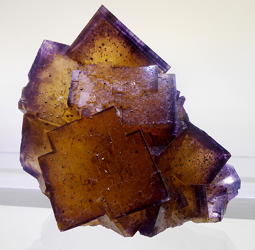 Yellow and purple Fluorite from Ozark-Mahoning #7 Mine, Hardin County, Illinois, USA.