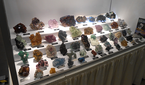 The first is a show case put together by Al and Sue Liebetrau. A range of colourful Fluorite specimens from around the world.