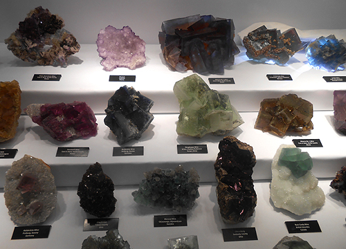 Al and Sue Liebetrau showcase of fluorites at the TGMS show