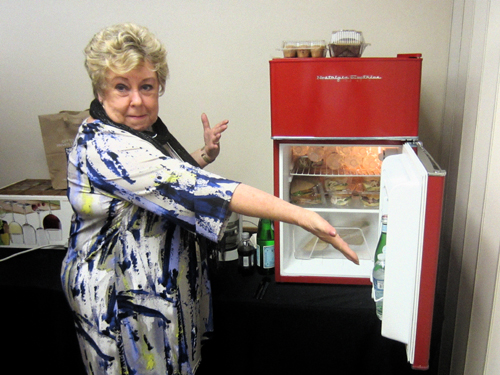 Daily sustenance, perhaps the most important part of the set up! ... Dona thought of everything, even a brand new fridge to keep all our drinks and lunch bags cool.