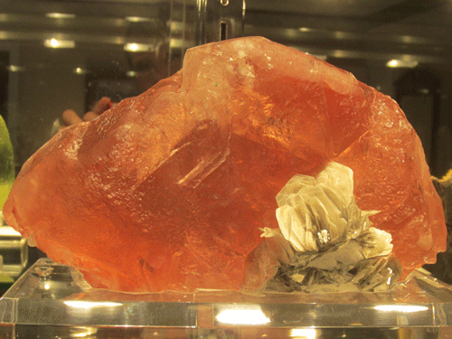 Pretty in pink - a huge Fluorite and Muscovite from Hunza Valley, Gilgit District, Northern Areas, Pakistan.