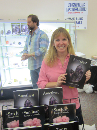 Gloria Staebler with the new Amethyst edition, with Dave Bunk in the background