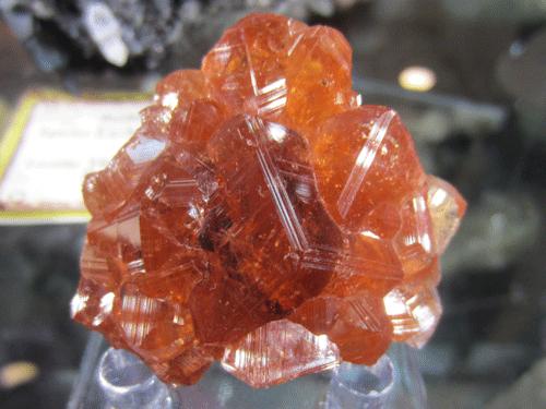 Grossular var. Hessonite Garnet from Jeffrey Mine, Asbestos, Les Sources RCM, Estrie, Québec, Canada.