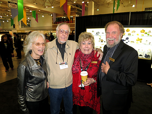Wayne and Dona Leicht with renowned mineral and gem photographers Erika and Harold Van Pelt.