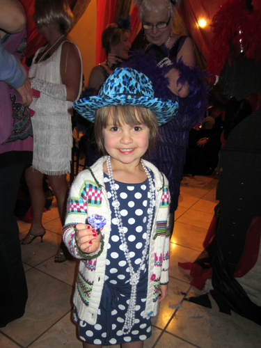 Our cutest party guest was Miss B (daughter of Alan and Andrea Hart)