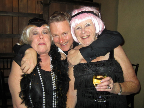 Dona, Ian and Liz had starring roles at the party.