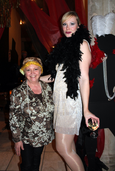 The smallest and the tallest party guest: Eloisa Callen and Diana