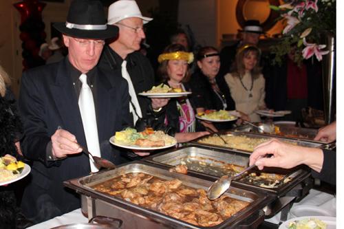 Dave Waisman enjoying the food