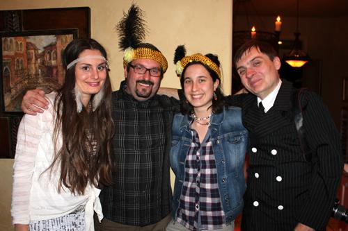 Katya, Tomasz and his friend and Jolyon.