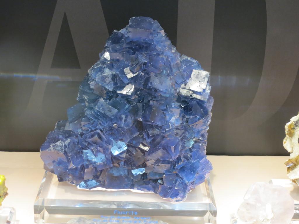 Blue Fluorite from Puy-St-Gulmier, Herment, Puy-de-Dôme, Auvergne, France