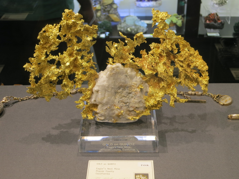 Native Gold from Eagle's Nest Mine, California,