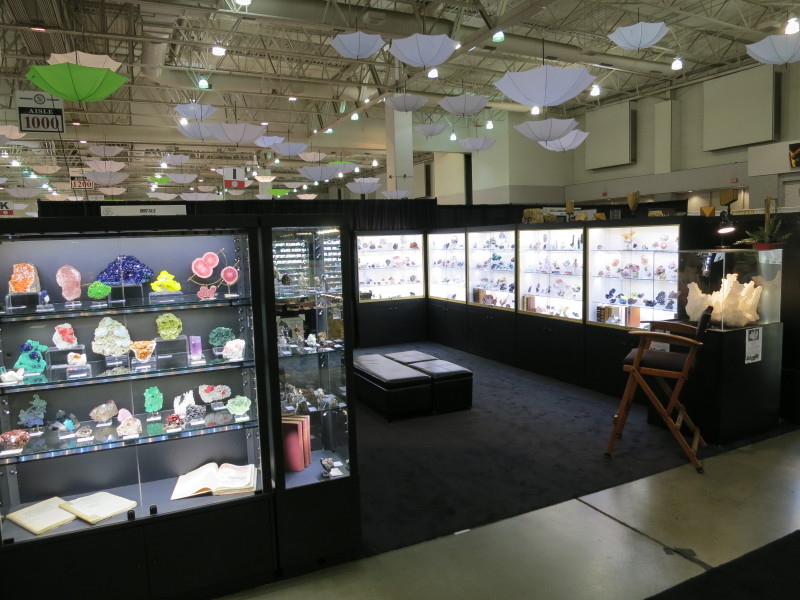 The Kristalle booth at the Tucson Gem and Mineral Society Show 2015