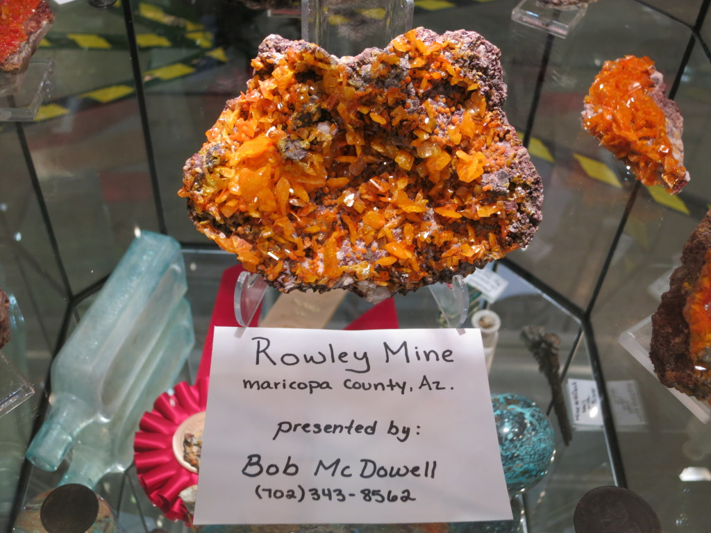 Wulfenite from Rowley Mine, Arizona by Bob McDowell