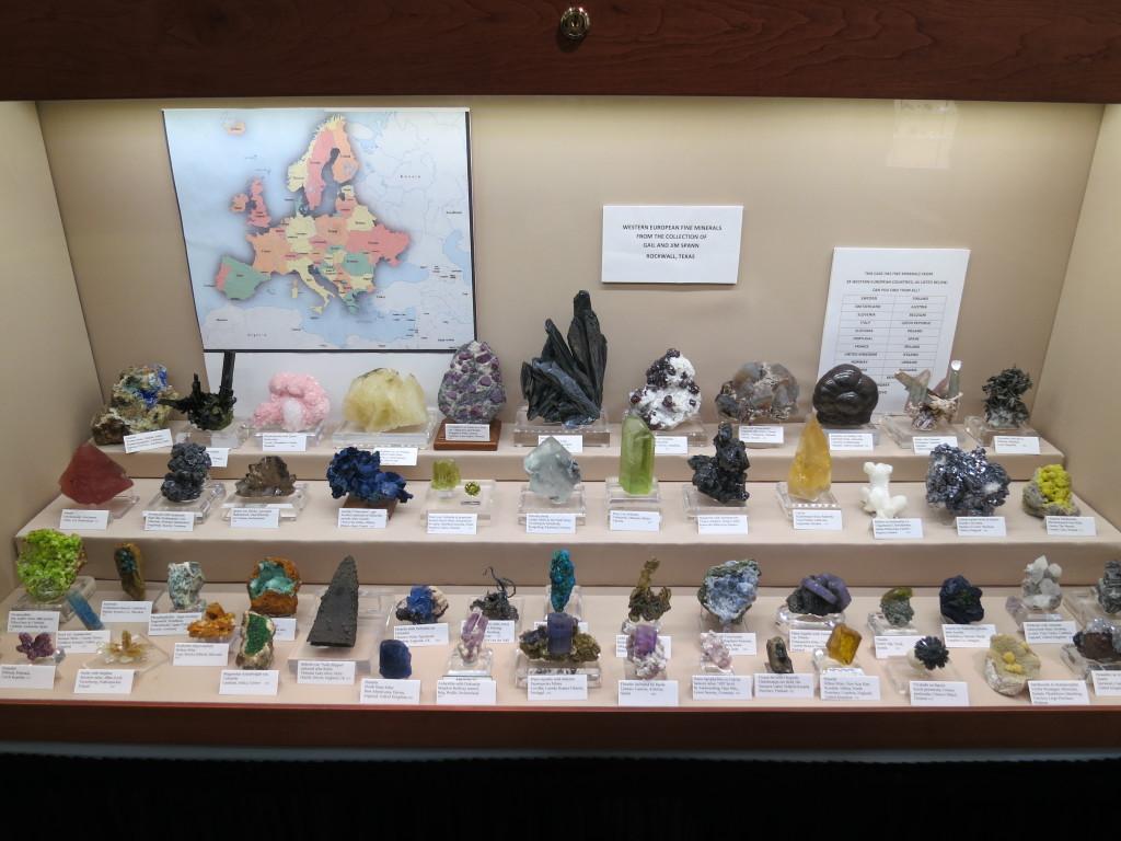 Gail and Jim Spann's impressive case of Western European Minerals