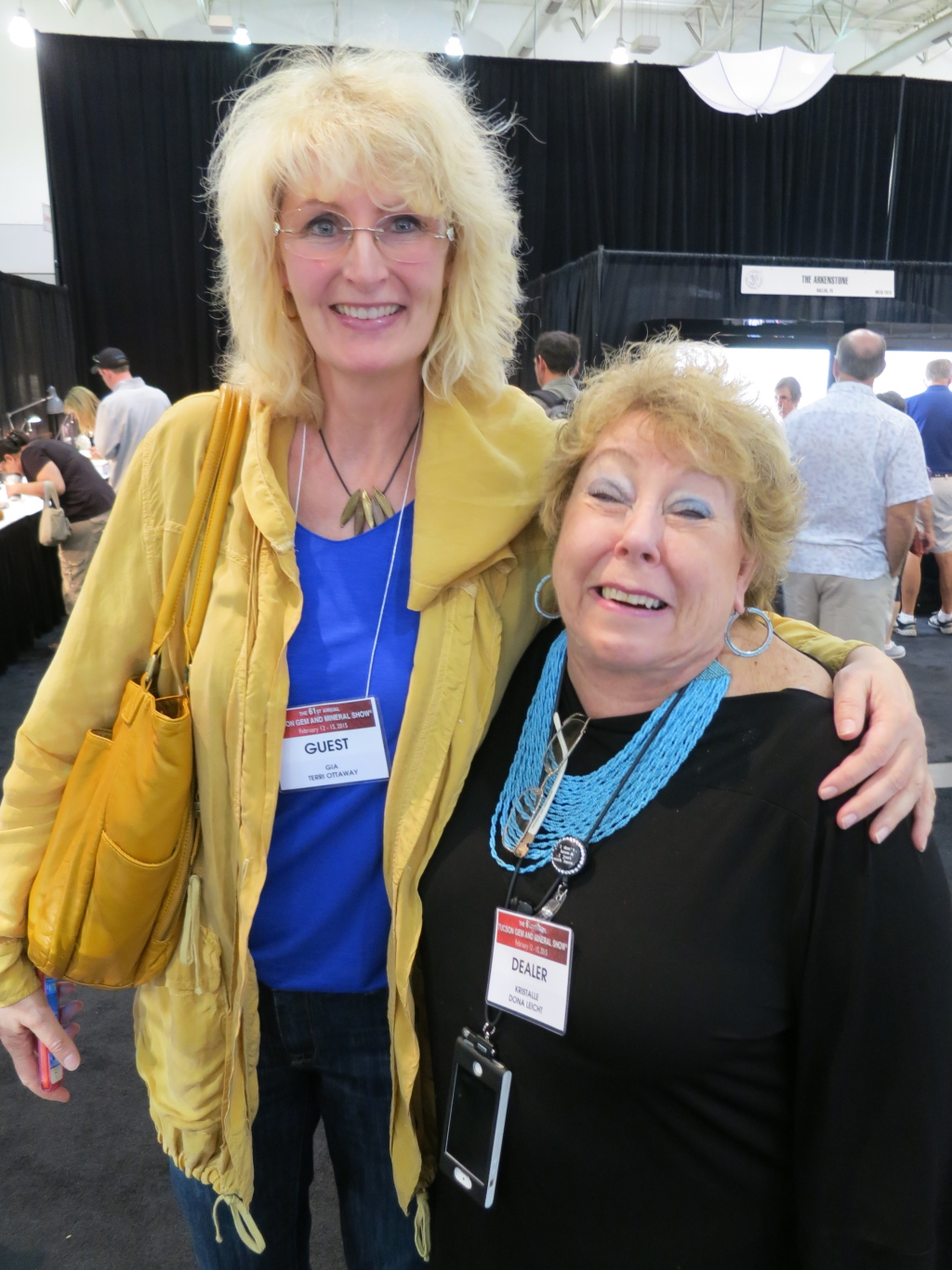 Dona with Terri Ottaway from the GIA