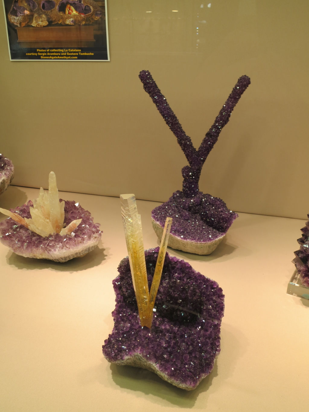 Spectacular Calcites on Amethyst from Uruguay which have been removed from geodes.