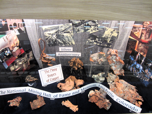 """This was a fun cabinet from the National Mining Hall of Fame & Museum, Leadville in Colorado, """"The Many Shapes of Copper"""""""