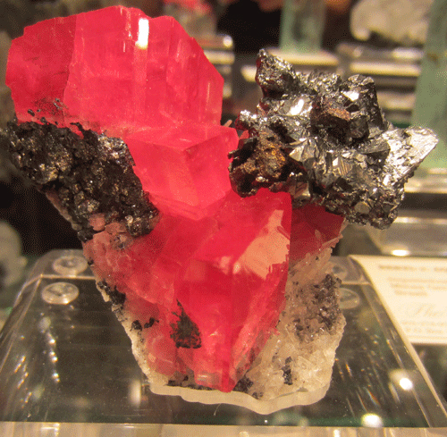 Famed for their Rhodocrosite from the Sweet Home Mine, Alma Co., Colorado, USA, here from Graham's Pocket, accompanied by Tetrahedrite.