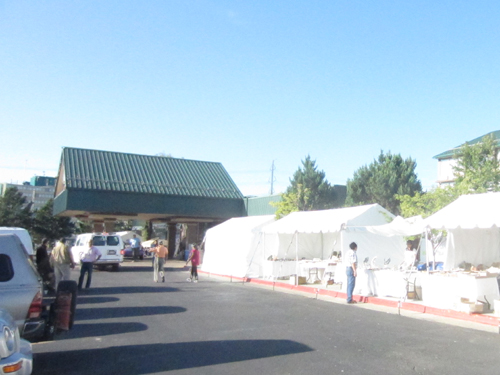 entrance to the Denver Gem and Mineral Show at the Ramada Hotel