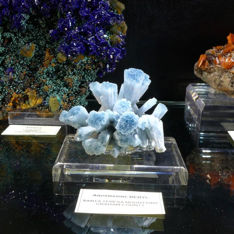 A superb aquamarine cluster from Santa Teresa Mountains - Evan Jones