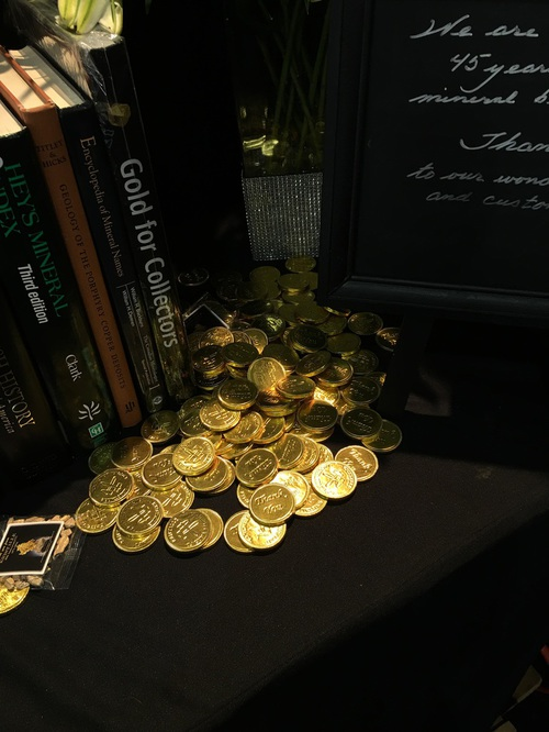 Jolyon Ralph took this photo - the ever popular chocolate coins came out after the school visits left - we've had these in our booths around the world for more than 20 years and people always look for them.